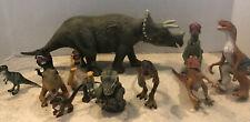 1990s Vintage Jurassic Park toy Lot Tri Ceratops Raptor Baby T-rex Finger Puppet