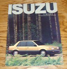 Original 1987 Isuzu I-Mark Sedan & Hatchback Sales Brochure 87