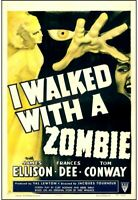 poster on linen Jacques Tourner's I WALKED WITH A ZOMBIE R52 US1sht LINENBACKED