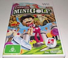 Mini Golf Carnival Games Nintendo Wii PAL *Complete* Wii U Compatible