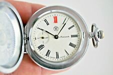 ☭ Pocket Watch Molnija Mechanical 3602 SU Original USSR Vintage Soviet SERVICED