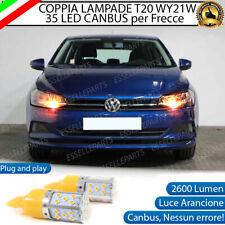 COPPIA LAMPADE T20 WY21W CANBUS 35 LED FRECCE ANTERIORI VW POLO AW1 NO ERRORE