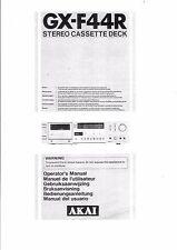 Akai  Bedienungsanleitung user manual owners manual  für GX- F 44R