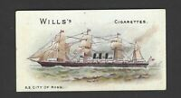 WILLS - SHIPS (BROWNISH CARD) - SS CITY OF ROME