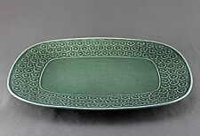 VINTAGE QUISTGAARD GREEN AZUR B&G  KRONJYDEN LARGE DISH/TRAY 30CM, 2 AVAILABLE