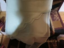 """TWO PAIR  LT. GREEN VOILE SWAG VALANCES--30""""ACROSS X 40"""" DOWN EACH PANEL-#P19A"""
