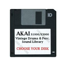 Akai S1000 / S3000 Floppy Disk Vintage Drums & Perc. Library Choose Your Disk