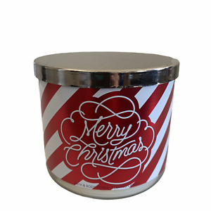 Bath & Body Works Frosted Cranberry 3 Wick Candle Merry Christmas Candle 14.5oz
