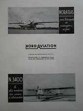 1959-1960 PUB NORD AVIATION NORATLAS UAT NORD 3400 ORIGINAL FRENCH AD