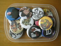 "Large lot of 20 Pinback 2.25"" Music themed party favor pins buttons badges"