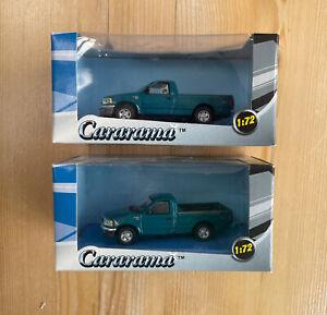 Cararama 1/72 Lot Of 2 1/76 OO 00 Gauge Ford F-150 US Pickup trucks In Green