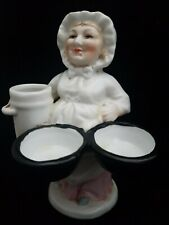 RARE VICTORIAN GERMAN MATCH HOLDER FIGURINE OF OLD WOMAN IN MINT CONDITION