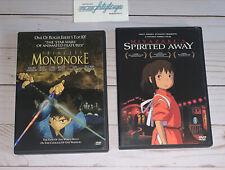 Miyazaki's Spirited Away & Princess Mononoke Dvd Lot