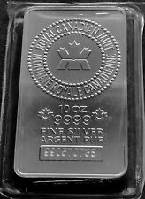 10 OZ SILVER BAR - RCM - SERIAL NUMBERED .9999 FINE SILVER!!