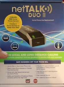 NetTALK Duo II - VOIP Home Phone / 3 Months Local & Long Distance Included