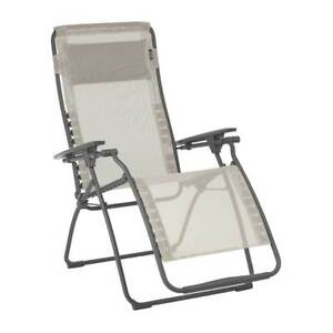 Lafuma Futura Zero Gravity Outdoor Steel Framed Lawn Recliner Chair (Open Box)