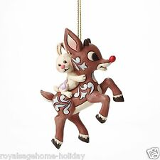 4047945 Rudolph Carrying Bunny Christmas Jim Shore Ornament Red Nosed Reindeer