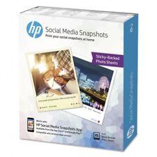 Papel HP foto adhesivo 10x13 social media snapshots