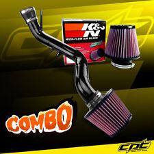 02-05 Honda Civic SI DOHC 2.0L Black Cold Air Intake + K&N Air Filter