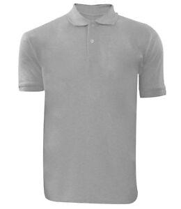 Mens Polo Shirt Pique T Shirts Plain Polycotton T-Shirts Tops Multi-Color S-5XL