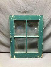 Antique 18x24 4 Lite Casement Window Vtg Country Cottage Old Green 834-20B