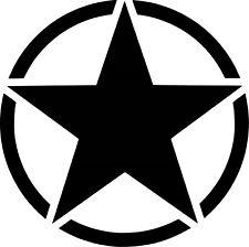 Sticker Army Star 20x20cm