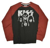 Kiss Mens Long Sleeve Shirt S M L XL 2XL Rock Tour Tee T Band Black NEW