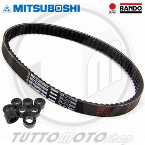 KIT CINGHIA ORIGINALE MITSUBOSHI + 8 RULLI YAMAHA MAJESTY 250 DX  1998 1999 YP