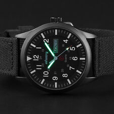 INFANTRY Men's Quartz Wrist Watch Date Luminous Sport Military Army Black Nylon