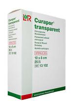 CURAPOR transparent | 10 x 8 cm | steriler Wundverband | Duschpflaster | 25 Stk