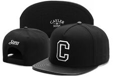 New Men's CAYLER SONS Snapback Adjustable Baseball Cap Hip hop street Hat Black