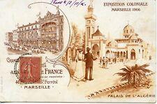 CARTE POSTALE / EXPOSITION COLONIALE DE MARSEILLE 1906 PALAIS DE L'ALGERIE