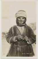 """SYRIA ca. 1920 superb mint b/w RP pc """"Syrie.Bédouine."""" - extremely rare card"""