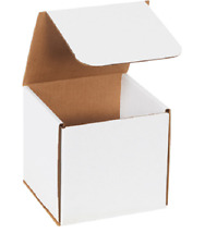 """1-500 Choose Quantity 6x6x6 Corrugated White Mailers Packing Boxes 6"""" x 6"""" x 6"""""""
