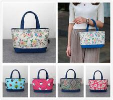 Cartoon Flowers Clutch Women's Waterproof Tote Shopping Lunch Box Bag Handbag