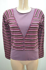 JACQUELINE RIU PULL TAILLE 1 36 38 S VIOLET NEUF PULLOVER JERSEY
