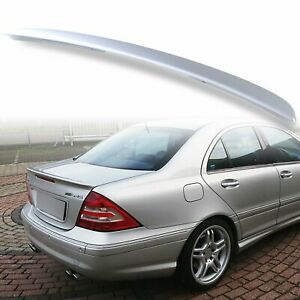For 01-07 Mercedes Benz W203 A Style #775 Iridium Silver Painted Trunk Spoiler