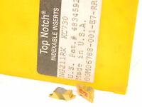 New Surplus 10pcs. Kennametal  NG 211RK  Grade: KC730  Carbide Inserts