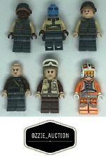 Lego Star Wars - Rebel Trooper Lot of 6 - Resistance Pilot Minifigure [75049]