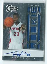 2010-11 Certified Terrico White JERSEY RELIC AUTO AUTOGRAPH RC #184 88/599