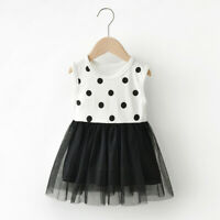 Fashion Toddler Summer Girl Baby Dot Tulle Princess Dress Outfits Clothes