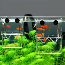 Double-Deck Clear Aquarium Breeder Fish Tank Hatching Incubator House isolation