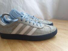 Adidas Entrenadores Reino Unido 8 EUR 42 Hombres Gacela Luz Azul Zapatillas Zapatos Con Cordones