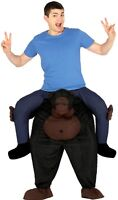 Ladies Mens Piggyback Ride On Step In Gorilla Stag Do Fancy Dress Costume Outfit
