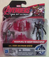 "Avengers - Age of Ultron - WAR MACHINE vs SUB-ULTRON 006 Mini 2"" Action Figures"