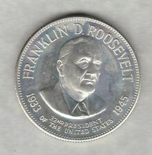 More details for franklin mint franklin d roosevelt 32nd president usa one ounce silver medal.
