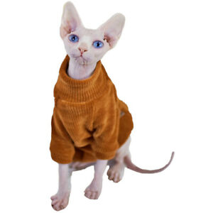 Sphynx Cat Sweater Elegant Warm Hairless Cat Clothing Comfort Winter Dress Devon