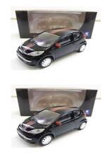 """Lot 2 Peugeot 107 GT Line Noir 1/64 """"3 Inche"""" Diecast NOREV Produit NEUF !!"""