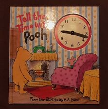 Tell the Time with Pooh Book, A A Milne, VGC
