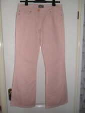 """LADIES """"TED BAKER"""" PINK COTTON FLARED JEANS (SIZE 3)   32""""W 31""""L"""